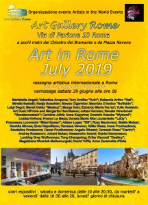 Art in Rome July 2019 locandina-r